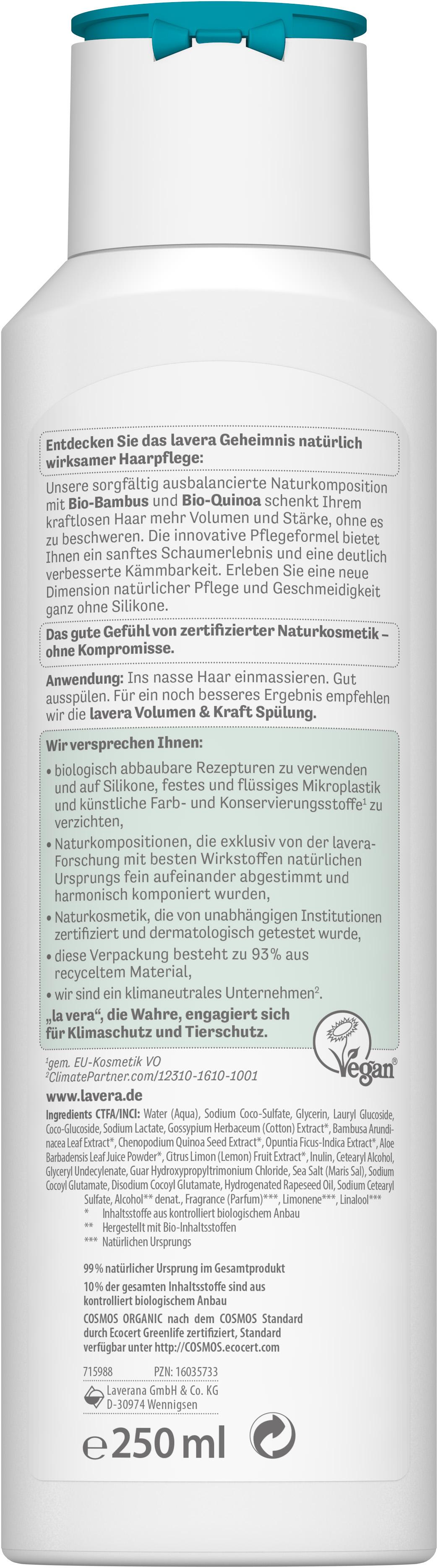 Pflegeshampoo Volumen & Kraft