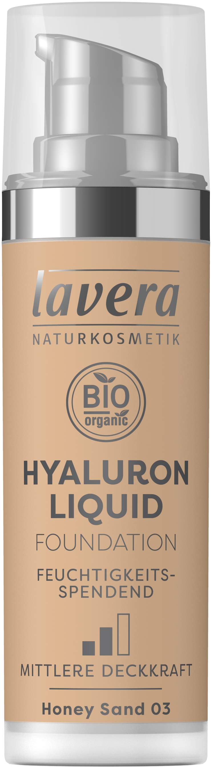 Hyaluron Liquid Foundation -Honey Sand 03-