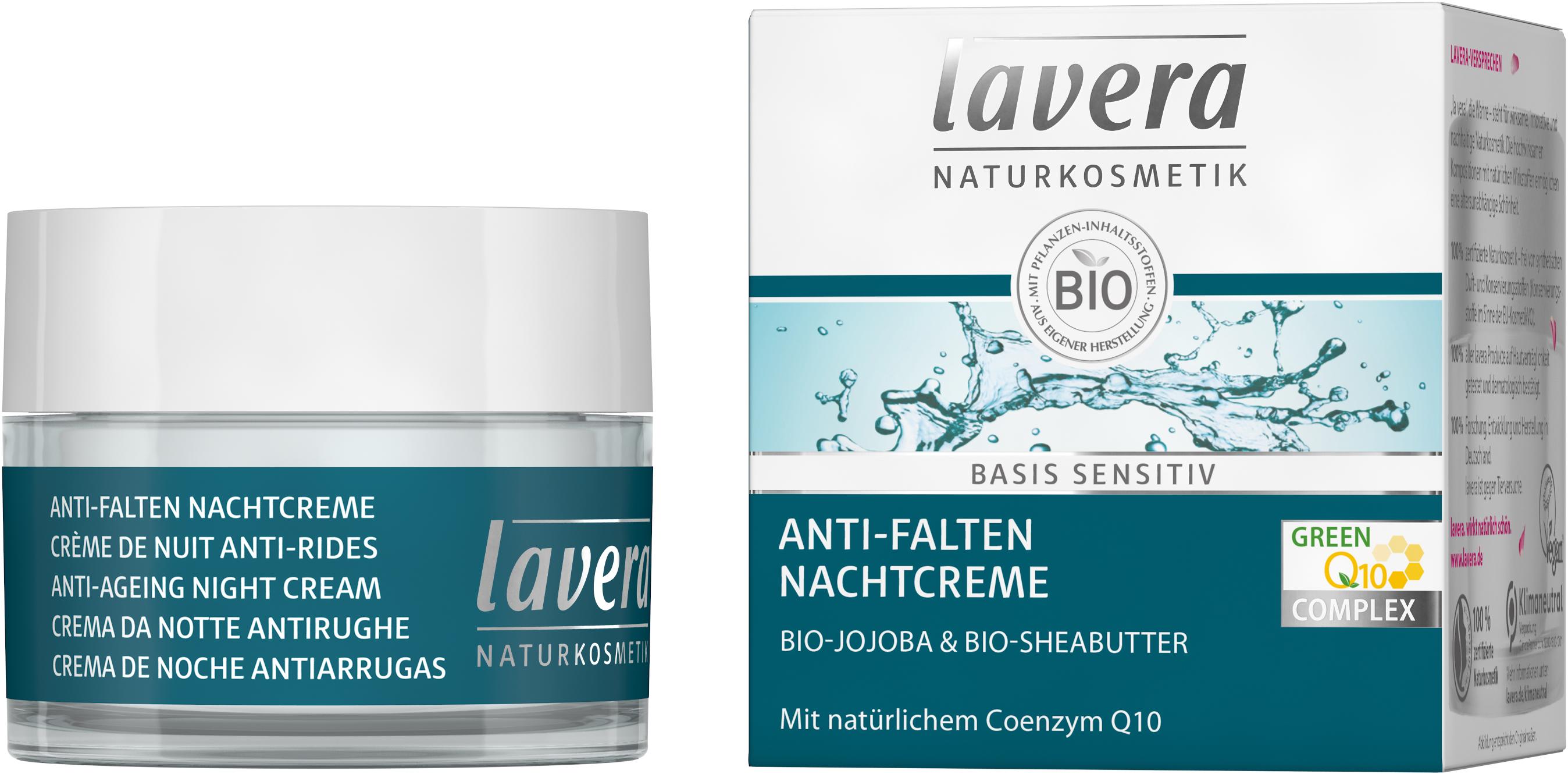 basis sensitiv Anti-Falten Nachtcreme Q10
